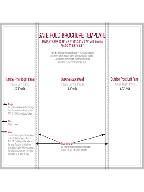 gate fold brochure template indesign best agenda templates