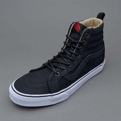 sepatu sneakers vans sk8 hi reissue pt twill black