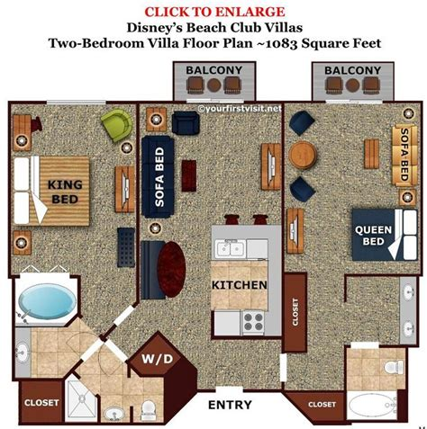 boardwalk villas one bedroom floor plan boardwalk villas 2 bedroom floor plan www redglobalmx org