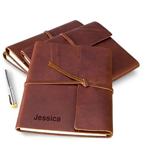 embossed fine leather journal personalized keepsake gifts