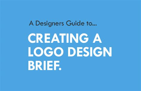 Design Brief Logo | a designers guide to creating a logo design brief logo geek