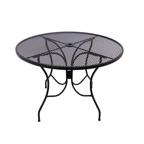 Black Patio Table Arlington House Glenbrook 48 In Black Patio Dining Table 8349000 0105000 The Home Depot