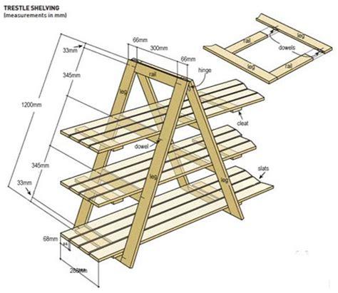 Trestle Shelf Unit by Home Dzine Home Diy Build Your Own Trestle Shelves