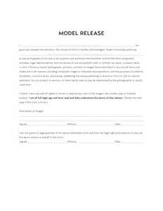 model release template free download