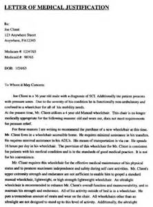 Wheelchair Letter Of Medical Necessity Template Letter Of Medical Necessity