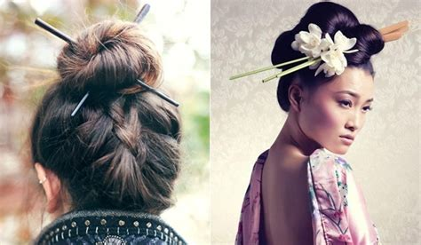 Chopstick Hairstyle by The Gallery For Gt Japanese Hairstyles With Chopsticks