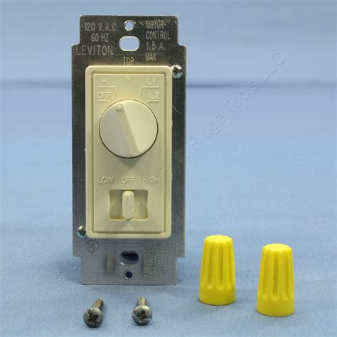leviton fan speed control leviton almond decora dimmer switch stepped fan speed