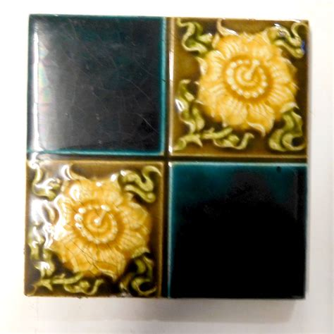 yellow fireplace blue yellow floral fireplace tiles buy from vfs