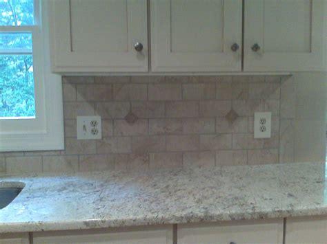 Tumbled Marble Backsplash Is Beautiful In A Subway Tile Pattern | bathroom marble subway tiles subway tile bathrooms
