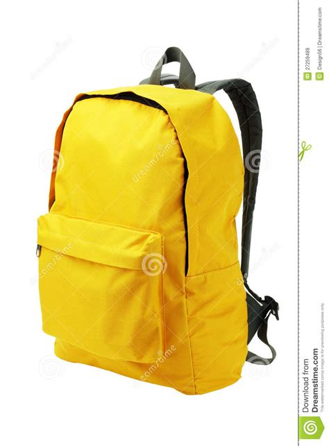 yellow backpack stock image image of zipped nobody