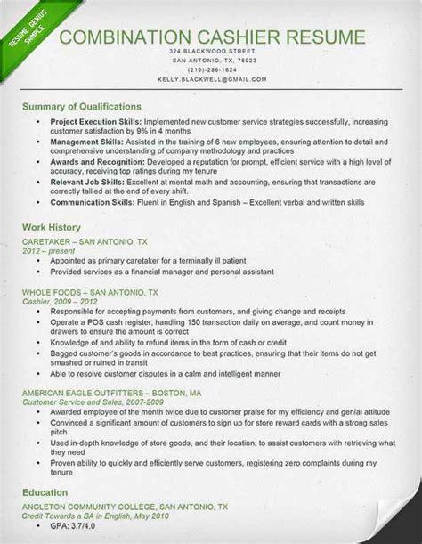 Cashier Resume Sample & Writing Guide   Resume Genius