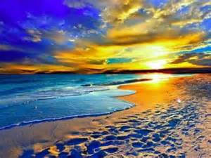 colorful beaches colorful landscapes sunset digital