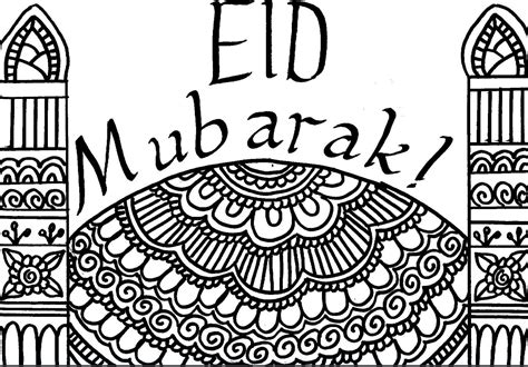 eid card templates to colour ramadan day 28 free colour in eid card muslimah