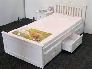 Single Wooden Bed Frame With Drawers Wooden Beds Modern And Traditional Wood Frames