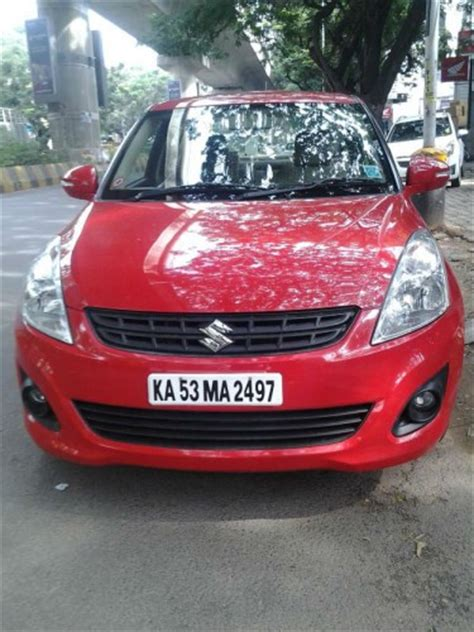 red color swift dzire vxi car  single owner  sale