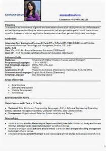 best executive resume format