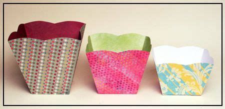 Origami Popcorn Box - paper popcorn and scrapbook on
