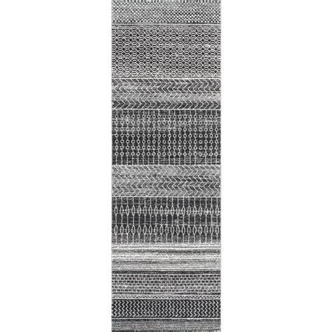 nuloom thigpen dark grey 8 ft 6 in x 11 ft 6 in area nuloom nova stripes dark grey 2 ft 8 in x 8 ft runner
