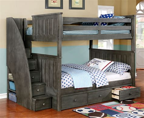 Grey Bunk Beds Bunk Bed Rooms4kids