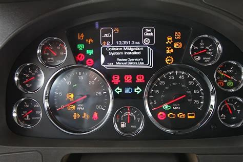 Kenworth Dash Warning Lights the dash display offers warnings and incentives to drivers