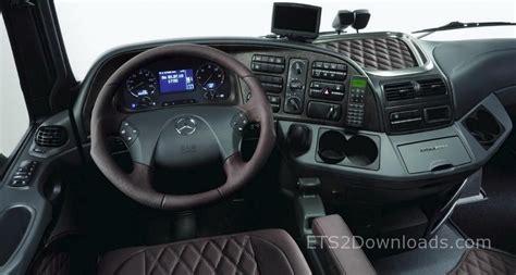 luxury trucks inside luxury interior for mercedes euro truck simulator 2 mods