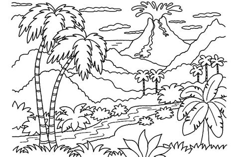 volcano coloring pages preschool 12 kids coloring pages volcano print color craft