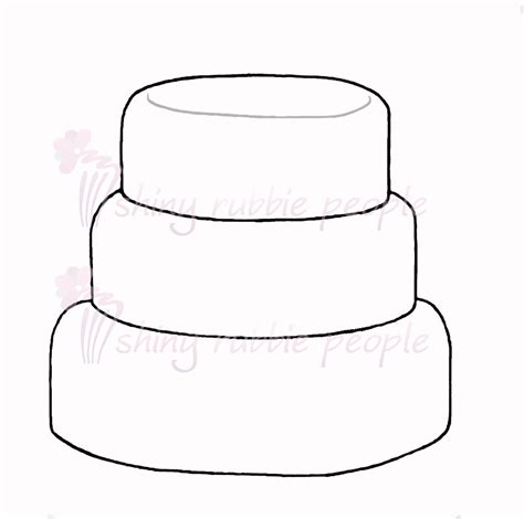 cake template cake clipart blank pencil and in color cake clipart blank