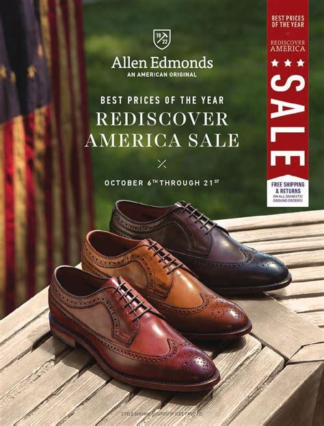allen edmonds sale allen edmonds 2014 rediscover america sale catalog by