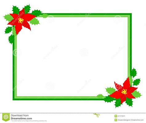 Christmas Frame Poinsettia Stock Image   Image: 21111611