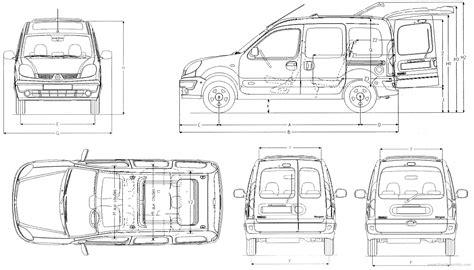 renault kangoo dimensions car blueprints 2004 renault kangoo minivan blueprint