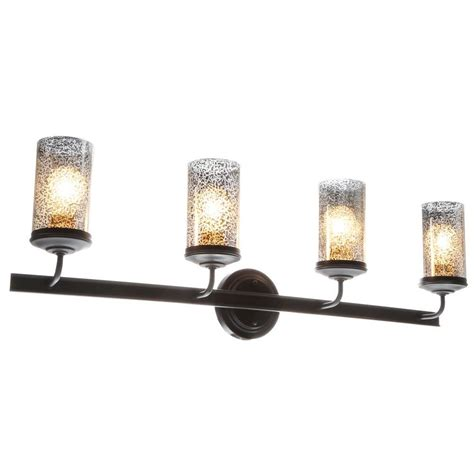 Glass Vanity Light Sea Gull Lighting Sfera 4 Light Autumn Bronze Wall Bath Vanity Light With Mercury Glass 4410404