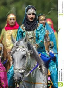 Mosque Chandelier Arab Horse And Woman Editorial Photo Image 19795031
