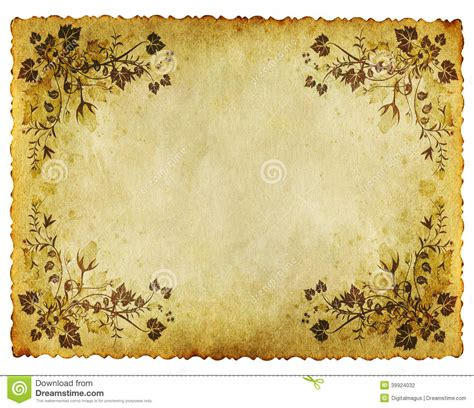 grunge paper floral background stock illustration illustration 19511049 grunge floral paper background stock photo image 39924032