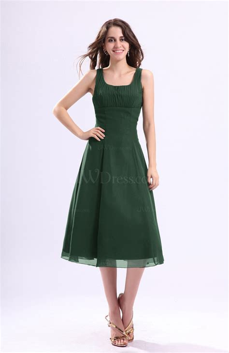a dress for a wedding hunter green simple a line square sleeveless zip up