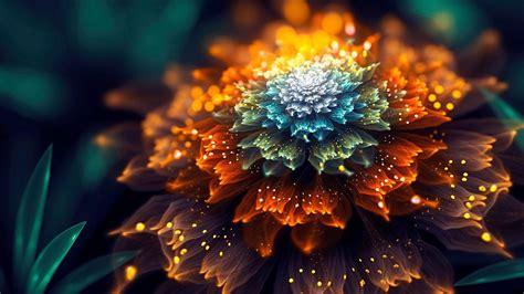 daily wallpaper fantasy fractal flower art