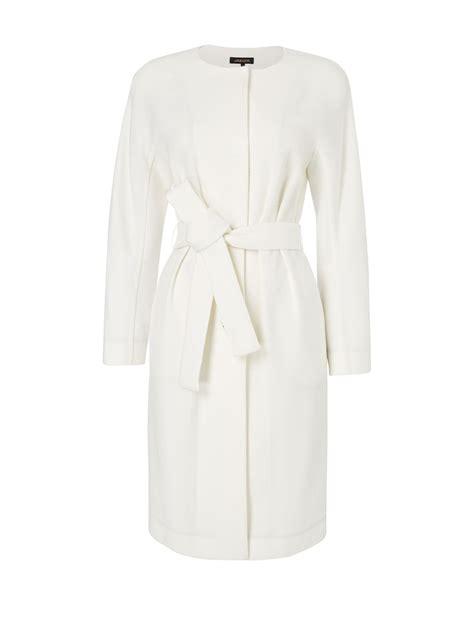 Dress Coats jaeger belted dress coat in white lyst