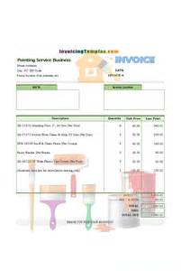 invoice template for painters service invoice template