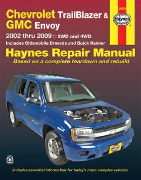 2002 2009 Chevy Trailblazer Gmc Envoy Olds Bravada