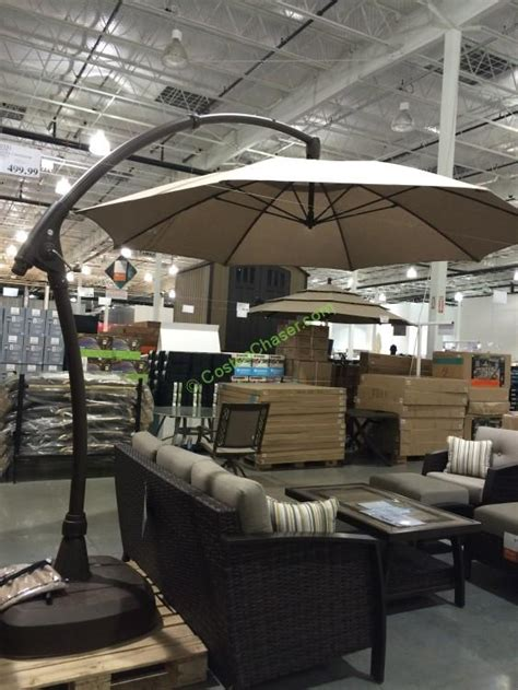offset patio umbrella costco 11 cantilever patio umbrella with base icamblog
