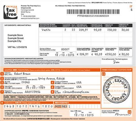 Tax Credit Form Number How To Fill In The Tax Free Form In Italy Premier Tax Free