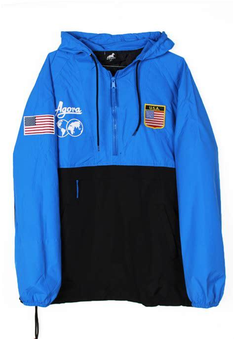 Jaket Usa shop agora jackets usa sport pullover jacket