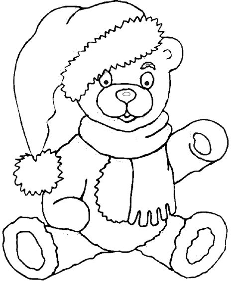 Christmas Coloring Pages Teddy Bear | teddy bear coloring book page christmas teddy bear