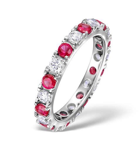 rubies vs diamonds worth ruby 1 50ct g vs 18kw gold eternity ring item hg20