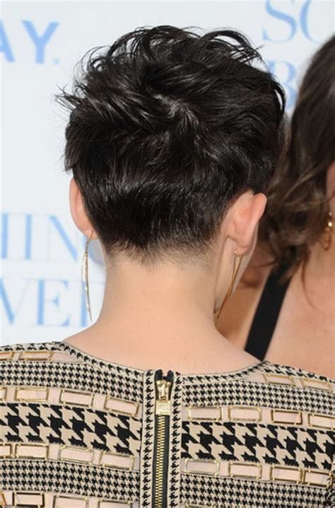 pixie hairstyle full on top tapered back for women pixie haircut back view