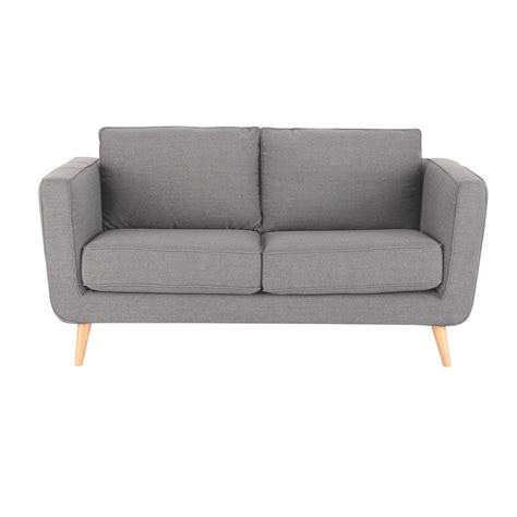 2 3 Seater Sofa 2 3 seater fabric sofa in light grey nils maisons du monde