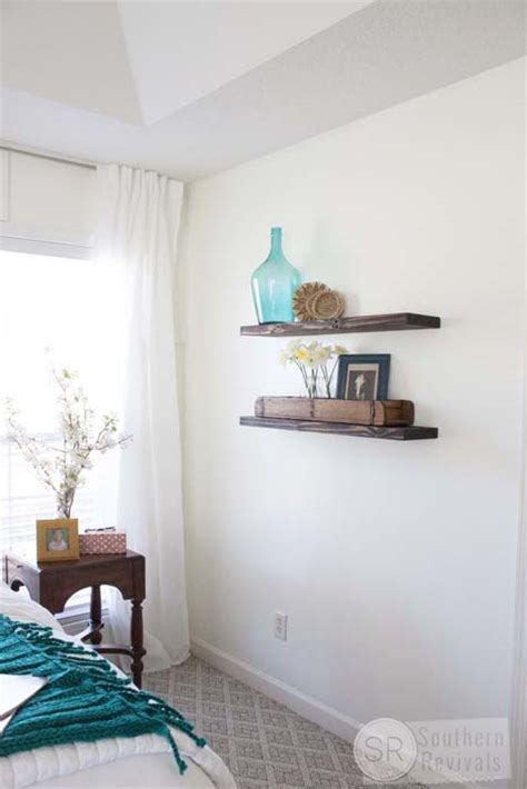 easy cheap diy floating shelves southern
