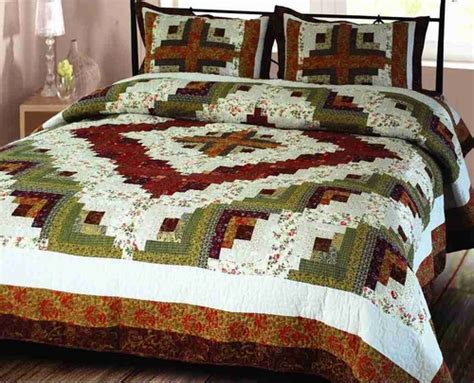 Handmade King Size Quilts - buy log cabin quilt luxury king size handmade cotton