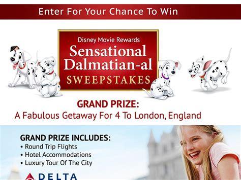 Alabama Sweepstakes - the disney movie rewards sensational dalmatian al sweepstakes