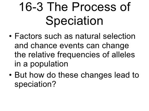 section 16 3 the process of speciation answers section 16 3 the process of speciation answers 28 images