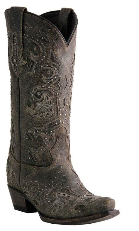gray cowboy boots womens lucchese m5730 womens rustic grey calf leather western